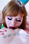 Dolled-up beauty invites her fur pie stud sub to suck and cruise her  ramrod