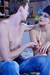 Funky angel prepares a  surprise for her freaky cock-loving boy-friend