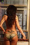 Tattooed bikini angel