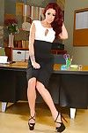 Redhead Mentor Eva Notty shows off her wonderful milf love-cage in high heels