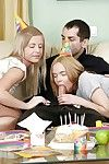 Youthful princesses celebrate birthday with hardcore anal gangbang
