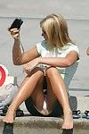 Upskirt oops ?amateur dears didn\'t know about livecam shooting