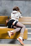 Jeny smith flashing nylons in public