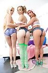 Steaming perspired lesbian hotties on high heels are can\'t live without fleshly anal-copulation