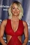 Kaley cuoco showing massive cleavage and untamed abs