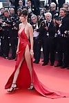 Bella hadid showing sideboob and fruitless shiny on top crotch