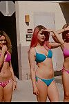 Appealing Spring Breaker bares a-hole and locks lips with Vanessa Hudgens