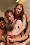 Steam room flasher is as was born and wanked admires mammoth explosion by four princesses