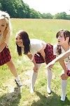 Schoolgirls come across a nudist colony and end up jacking off and swallowing a boy s ramrod