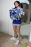 Doll mai ly plays around in her fabulous cheerleader clothing