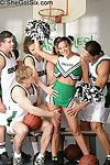 Cheerleader group-bonked