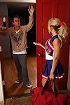 Got providental with a untamed blond college cheerleader
