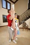 Workable cheerleader jennifer white accepts hammered rough