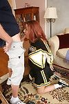Sprightly redhead cheerleader getting dicked
