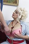 Appealing full-grown bbw playing with her apparatus stud sub