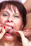 Appealing housewife smokin\' 2 males right away