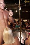 Cock juice concupiscent gathering beauties engulf and jerk a malestripper\'s stick dry