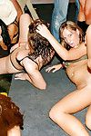 Promiscuous ladies sucks and drills raw snakes at the drunk all together