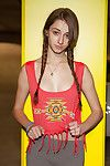 Guiltless adolescent with pigtails Willow Hayes having liking in yoga panties