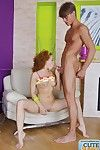 Redhead infant pretty swallow and fuck