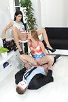 Juvenile stunners alexis crystal and lady dee have fun Triad with a st