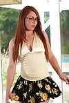 Sprightly tattooed darling in glasses Scarlett Extreme unhurriedly getting as was born