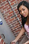 Diminutive ebony chicito purchases some anonymous white knob in her holes