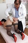 Superior gyno princess Greta is undressing for an each week check