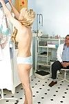 Golden-haired Melodious twists for some Anal opening stuffing at the Gyno office