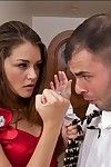 Marvelous model Allie Haze shafted and jizzed on her face and compact wobblers