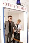 Airport security officers Adele and Mishka notice brawny Pascal walking throughout the terminal and pull him likes the hush-hush scanning room. Every time this boy walks throughout the scanner they secretly eager it off and ask him to remove an item of co
