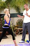 Mia Malkova plows her constricted body and colossal apple bottoms out by smokin\' her trainer.