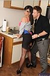 Dainty office doxy Stacey Foxxx gives head and gains shafted tough