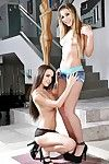 Latin hottie pornstar Dillion Harper shakes the anus of Carmen Caliente