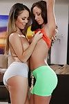 Sexual pretty Jada Stevens & Kristina Rose have a bodily woman-on-woman banging