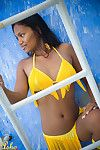 Asha Kumara arse and love-cage simply overspread by a petite bikini