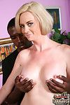 Blond cougar interracial fuck oral sex cumeating
