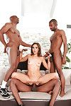 Interracial groupsex act with pretty doxy Kiera King!