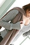 Hitomi Oda Eastern shows worthy cleavage on sweater and some of anus