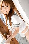 Iroha Chinese dear in sailor pretty uniform shows booty below petticoat