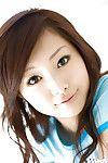 Seductive Chinese lass Suzuka Ishikawa slipping off her clad