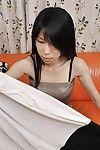 Slippy oriental MILF Yuko Mukai erotic dancing down and toying her unshaved gash