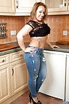 Fatty pretty with tattoos Ashley undressing her taut jeans