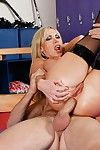 Sultry vixen Nikki Benz sucks and enormous weenie and takes it in her anus