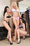 Woman-on-woman two men plus one female with Breanne Benson, Romi Rain and Summer Brielle