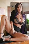Tanned milf Lisa Ann demonstrates her gorgeous enormous boobies afterward plow
