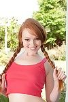 Adolescent beauty with pigtails Kloe Kane gets undressed out of questions