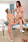 Breasty Lesbian hotties Give An Oil Rubdown