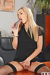 Perspired fairy hotty Sophia Knight wanking with glass penis stimulator