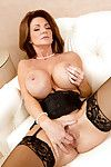 Ready lady in  with vast milk sacks Deauxma shows off hawt snatch